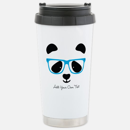 Cute Panda Blue Travel Mug