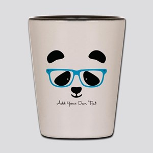 Cute Panda Blue Shot Glass