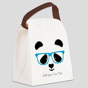 Cute Panda Blue Canvas Lunch Bag