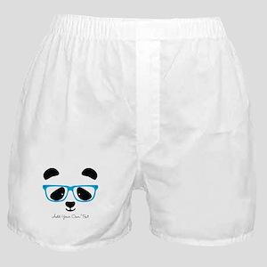 Cute Panda Blue Boxer Shorts
