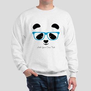 Cute Panda Blue Sweatshirt