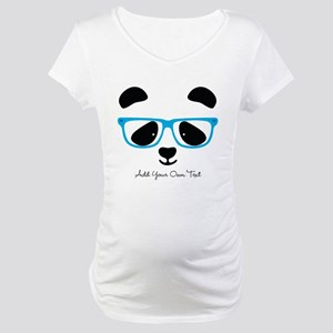 Cute Panda Blue Maternity T-Shirt