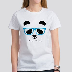 Cute Panda Blue T-Shirt