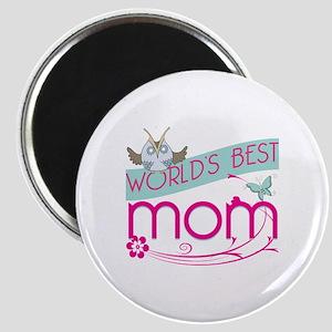 World's Best Mom - Owl Magnet