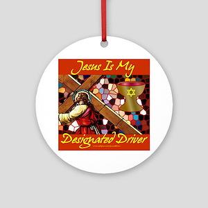 Jesus Designated Driver Ornament (Round)