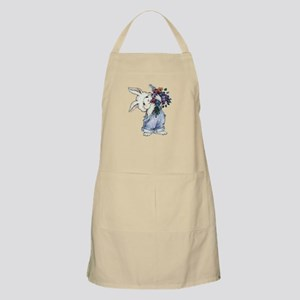 Bunny with Flowers BBQ Apron