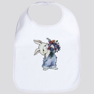 Bunny with Flowers Bib