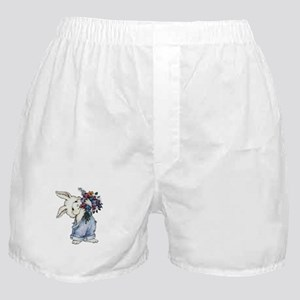 Bunny with Flowers Boxer Shorts