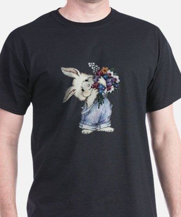 Bunny with Flowers T-Shirt