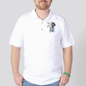 Bunny with Flowers Golf Shirt