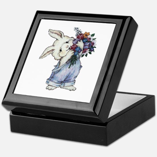 Bunny with Flowers Keepsake Box