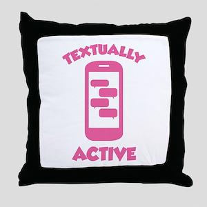 Textually Active Throw Pillow