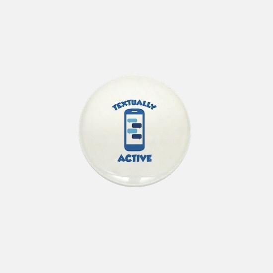Textually Active Mini Button