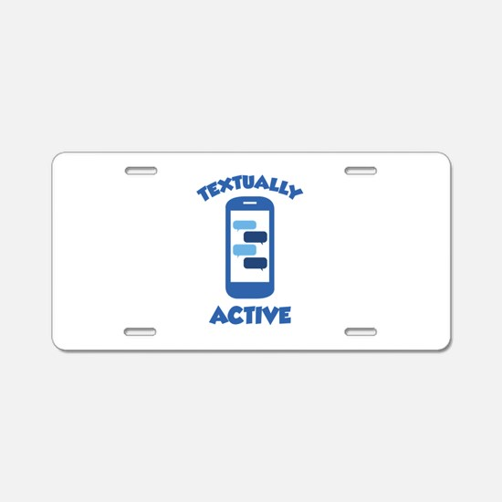 Textually Active Aluminum License Plate