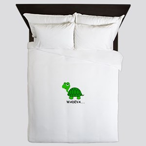 The Heckcare Turtle Queen Duvet