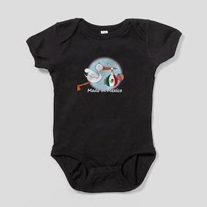 stork baby mex white Baby Bodysuit
