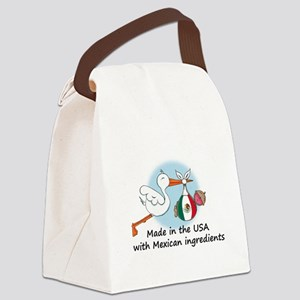 stork baby mex2 Canvas Lunch Bag