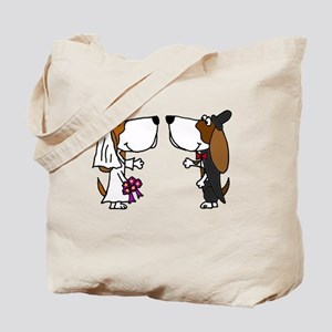 Basset Hound Wedding Tote Bag