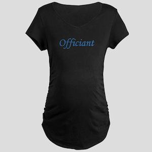 Officiant - Blue Maternity Dark T-Shirt