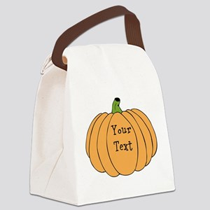 Pumpkin Canvas Lunch Bag