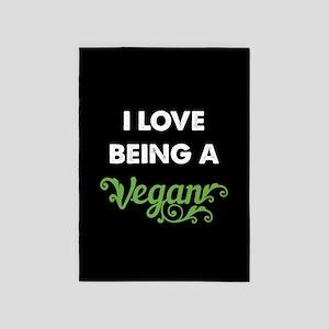 Love Being Vegan 5'x7'Area Rug