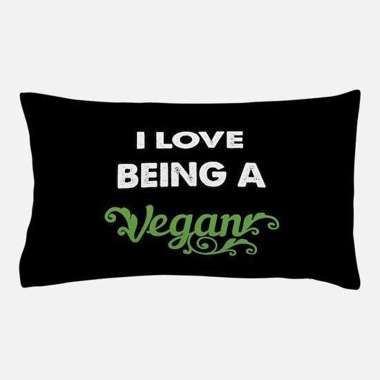 Love Being Vegan Pillow Case