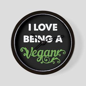 Love Being Vegan Wall Clock