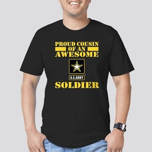 Proud Cousin U.S. Army Men's Fitted T-Shirt (dark)