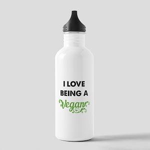 Love Being Vegan Stainless Water Bottle 1.0L