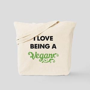 Love Being Vegan Tote Bag
