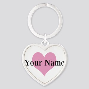 Pink heart and personalized name Keychains 53ba7a2a85