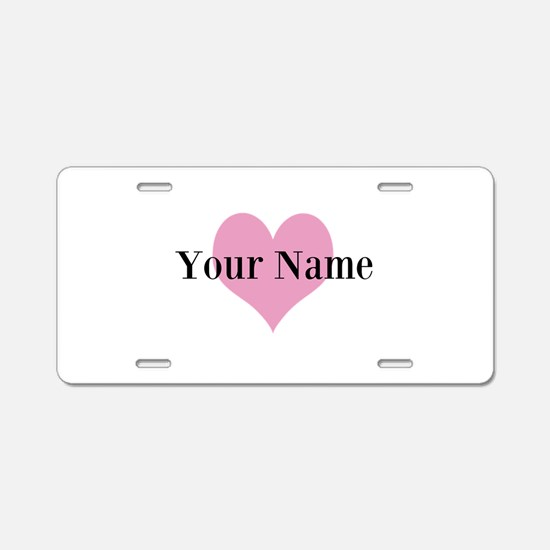 Personalized Wedding Aluminum License Plate