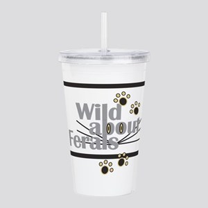 Wild about Feral Cats Acrylic Double-wall Tumbler