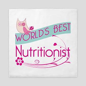 World's Best Nutritionist Queen Duvet