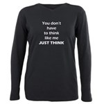 Just Think Plus Size Long Sleeve Tee