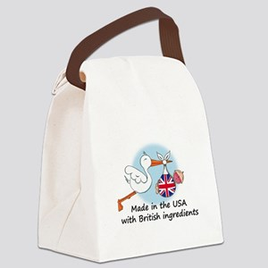 stork baby uk2 Canvas Lunch Bag