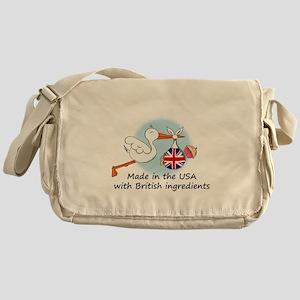 stork baby uk2 Messenger Bag
