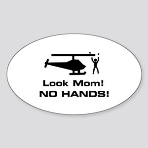 Look Mom! Oval Sticker