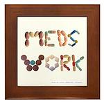 Meds Work White Framed Tile