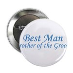 Best Man Brother of the Groom Button