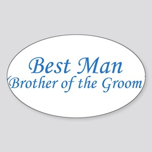 Best Man Brother of the Groom Oval Sticker