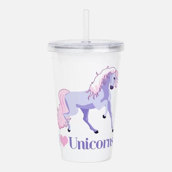 I Heart Unicorns Acrylic Double-wall Tumbler