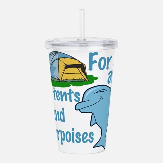 Tents and Porpoises Acrylic Double-wall Tumbler