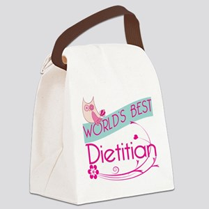 World's Best Dietitian Canvas Lunch Bag