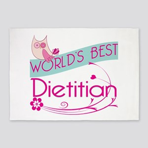 World's Best Dietitian 5'x7'Area Rug