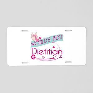 World's Best Dietitian Aluminum License Plate