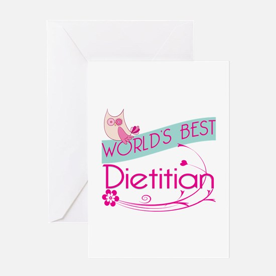 World's Best Dietitian Greeting Card