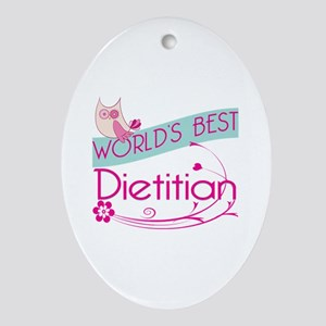 World's Best Dietitian Ornament (Oval)