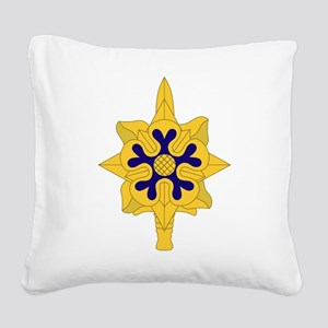 Military+Intelligence+Insigni Square Canvas Pillow