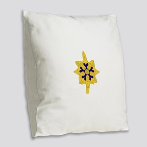 Military+Intelligence+Insignia Burlap Throw Pillow